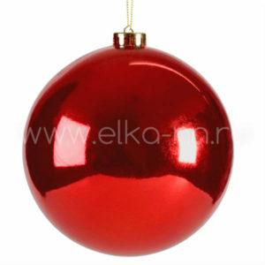 шар красный глянцевый 150 мм