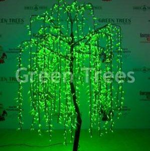 Световое дерево Ива зеленое, высота 2,5м1